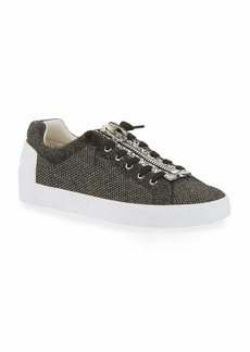 Ash Nirvana Metallic Knit Zipper Sneakers  Black