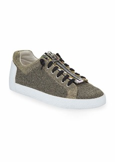 Ash Nirvana Metallic Knit Zipper Sneakers  Gold