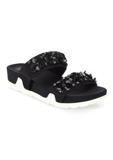 Ash Oman Flowers Embellished Slide Sandals