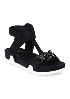 Ash Osiris Flower Ankle Strap Sandals