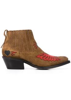 Ash contrast patch design boots
