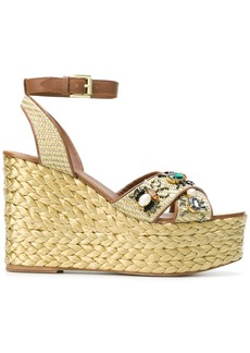 Ash Tulum wedge sandals - Nude & Neutrals