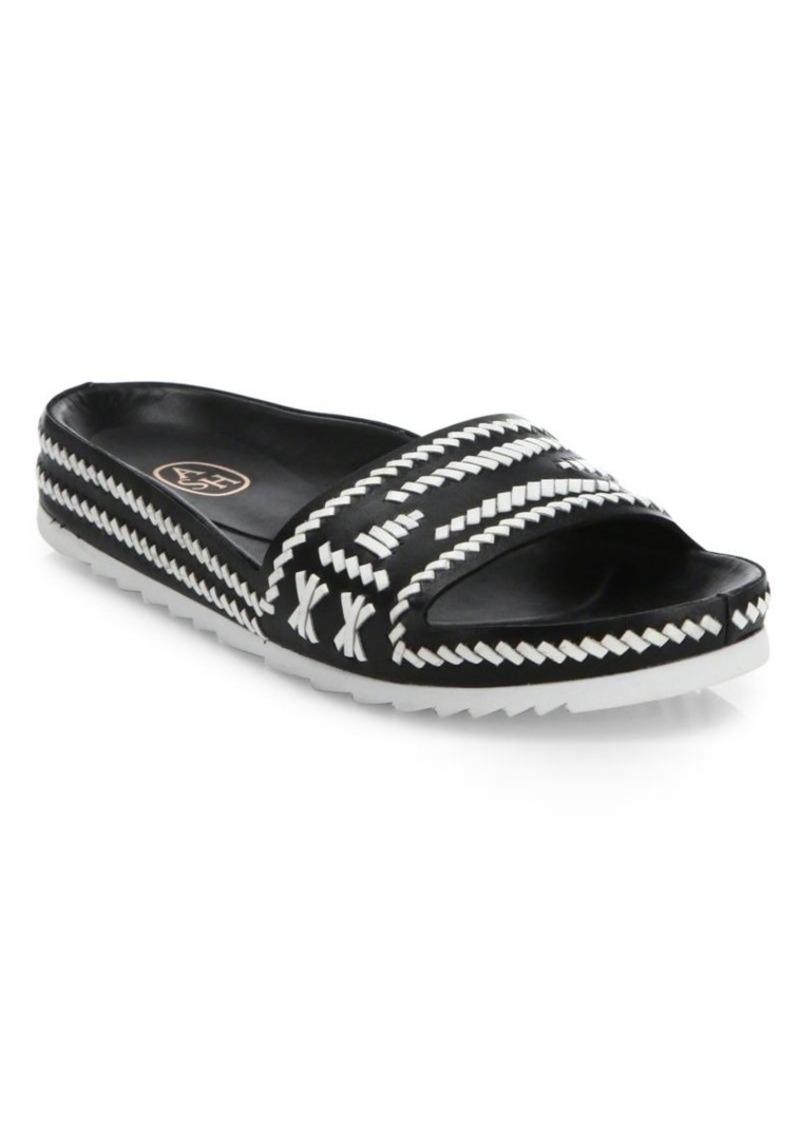 Ash Ulla Leather Slide Sandals