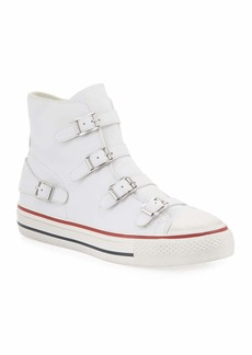 Ash Virgin Buckle High-Top Leather Sneakers