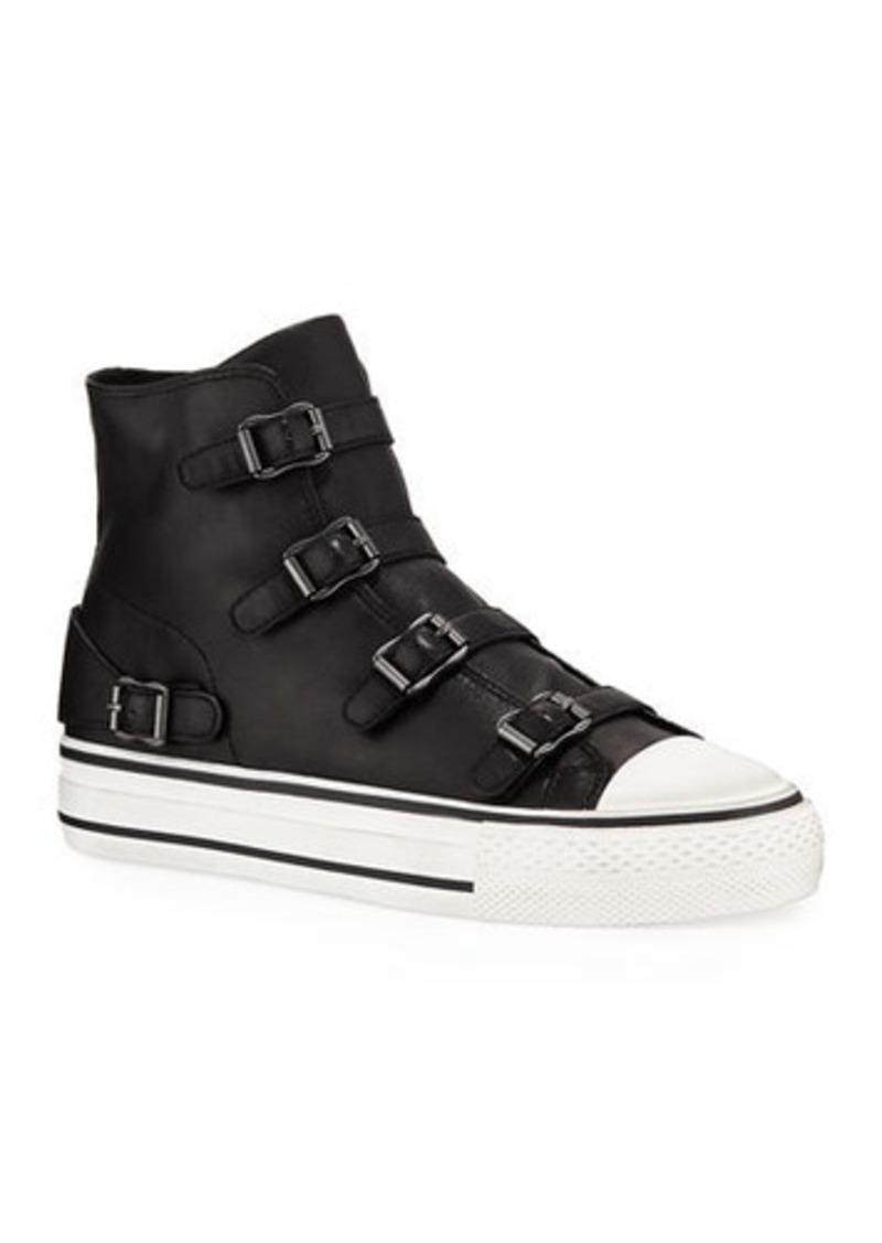 Ash Virgin Leather Buckle Sneakers
