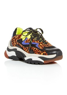 Ash Women's Addict Mixed-Media Low-Top Platform Sneakers