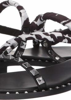 Ash Women's AS-Pattaya Flat Sandal Black/White 3 M EU ( US)