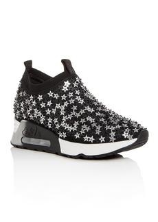 Ash Women's Lightning Star Embellished Slip-On Wedge Sneakers