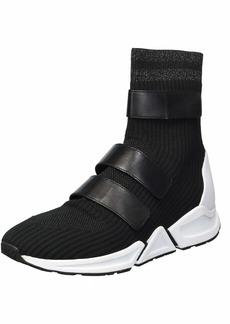 Ash Women's Triton Sneaker Knit Silver/Nappa Calf Black 3 M EU ( US)