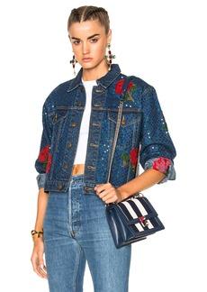 Ashish Denim Jacket with Rose Embroidery