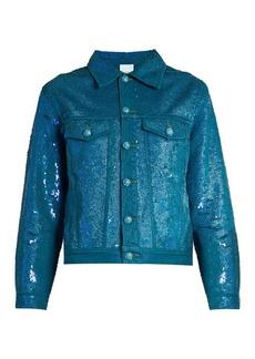 Ashish Sequin-embellished denim jacket