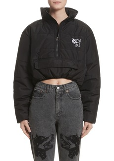 Ashley Williams Misery Crop Puffer Coat
