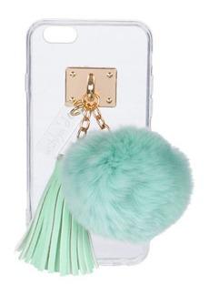 ashlyn'd Transparent iPhone 6 Case w/ Fur Pompom