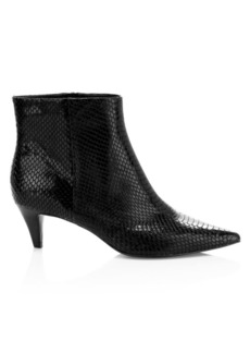 Ash Cameron Python-Embossed Leather Ankle Boots