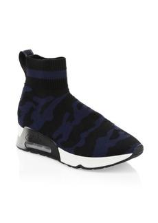 Ash Camo Printed Sock Sneakers