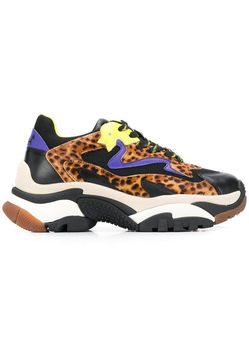 Ash chunky leopard print sneakers