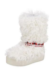 Ash Cool Moon Fur Mid-Calf Boots