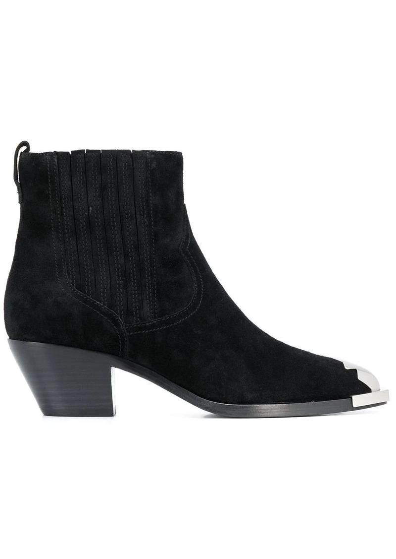 Ash cowboy style ankle boots