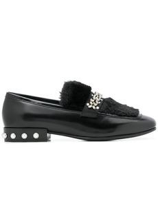 Ash embellished loafers