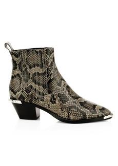 Ash Floyd Lizard-Embossed Leather Western Boots