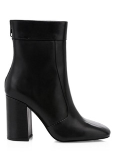 Ash Janice Square Toe Leather Booties
