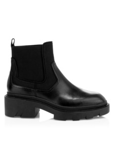 Ash Metro Leather Slip-On Combat Boots