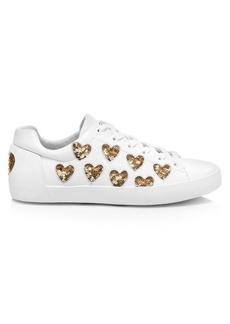 Ash Nikita Sequin Heart Sneakers