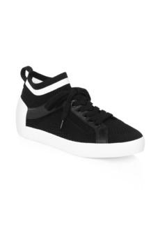 Ash Nolita Leather-Knit Sneakers