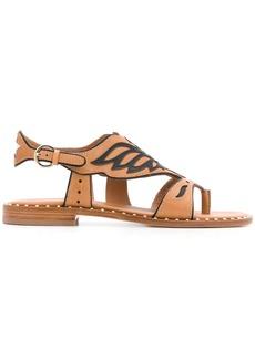 Ash Pampa eagle-shaped trimmed sandals