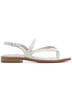 Ash pearl embellished sandals