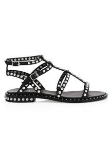 Ash Precious Studded Leather Gladiator Sandals