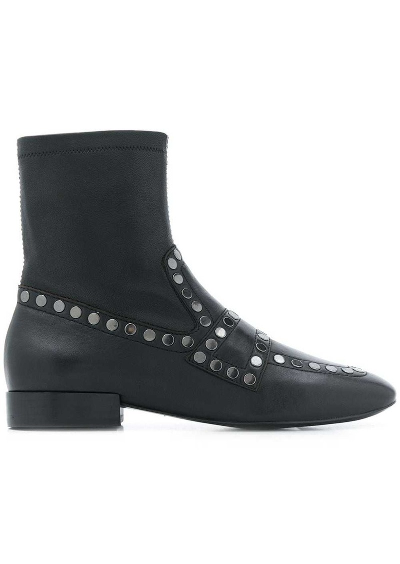 Ash studded Oracle ankle boots
