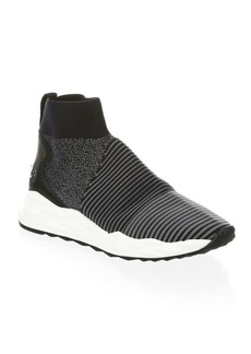 Ash Textured Stretch Sneakers