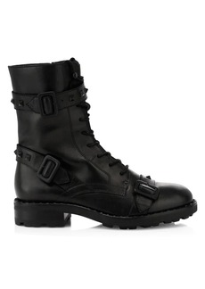 Ash Witch Studded Leather Combat Boots