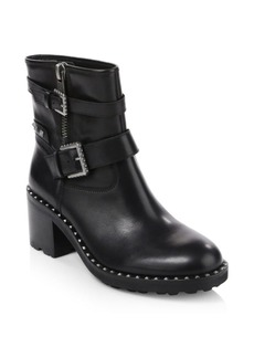 Ash Xenon Studded Leather Ankle Boots