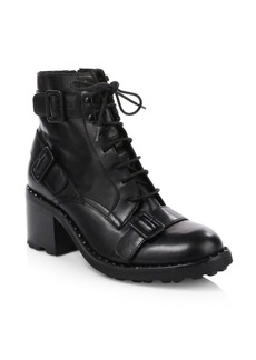 Ash Xeth Block Heel Combat Boots