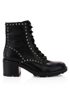 Ash Xin Studded Leather Combat Boots