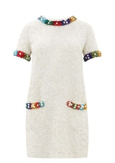 Ashish Beaded T-shirt mini dress