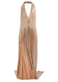 Ashish Chandra halterneck sequinned dress