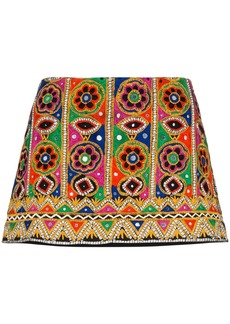 Ashish mirror-embroidered mini skirt