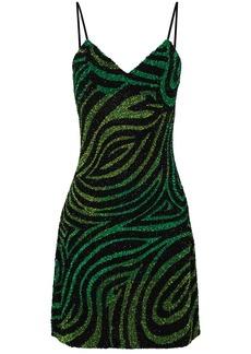 Ashish zebra-stripe sequin-embellished mini dress