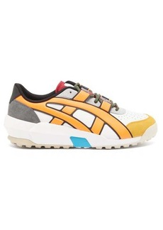 Asics Onitsuka Tiger Big Logo leather and suede trainers