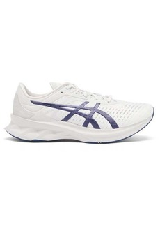 Asics Novablast faux-suede and mesh trainers