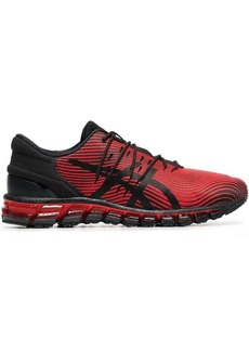 Asics red and black quantum 360 4 sneakers