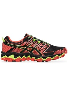 Asics red, green and black fujitrabuco 7 sneakers