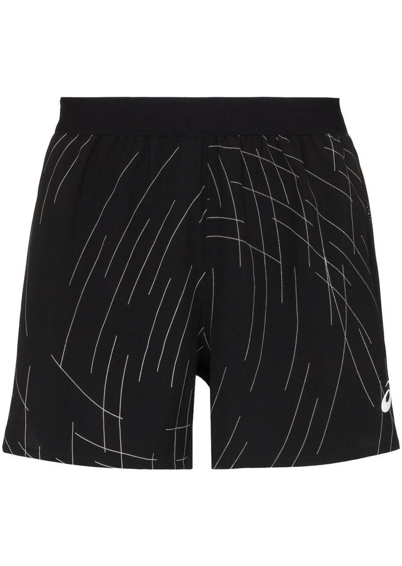 Asics running track shorts