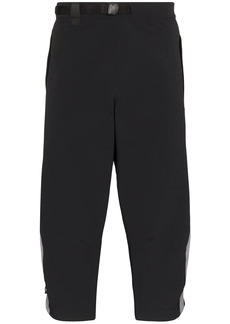 Asics side stripe cropped track pants