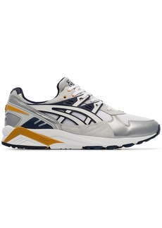 Asics silver metallic, white and purple X naked kayano 1 sneakers