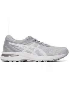 Asics White & Grey GT-2000 8 Sneakers