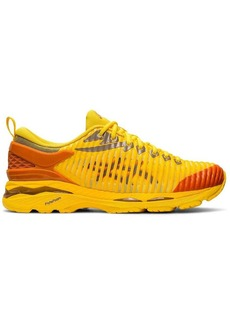 Asics yellow and orange X Kiko Kostadinov Delva sneakers